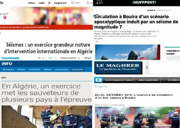 BIG ONE MONDIAL IMMINENT ! ARRIVEE DE NIBIRU : EN ALGÉRIE, UN EXERCICE DE SIMULATION D'UN FORT SÉISME DE MAGNITUDE 7 A RÉUNI UN MILLIER DE SAUVETEURS DE SEPT PAYS