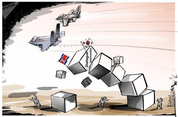 3 GUERRE MONDIAL 2018 EN MARCHE :La paix sur la péninsule coréenne mise en péril par les man½uvres USA-Corée du Sud