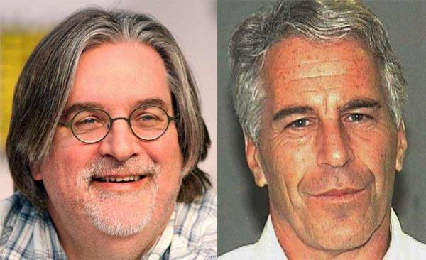 NOUVEL ORDRE MONDIAL PEDO SATANIQUE : Le créateur des Simpson Matt Groening aurait eu un « massage de pieds » à bord du Lolita Express d'Epstein