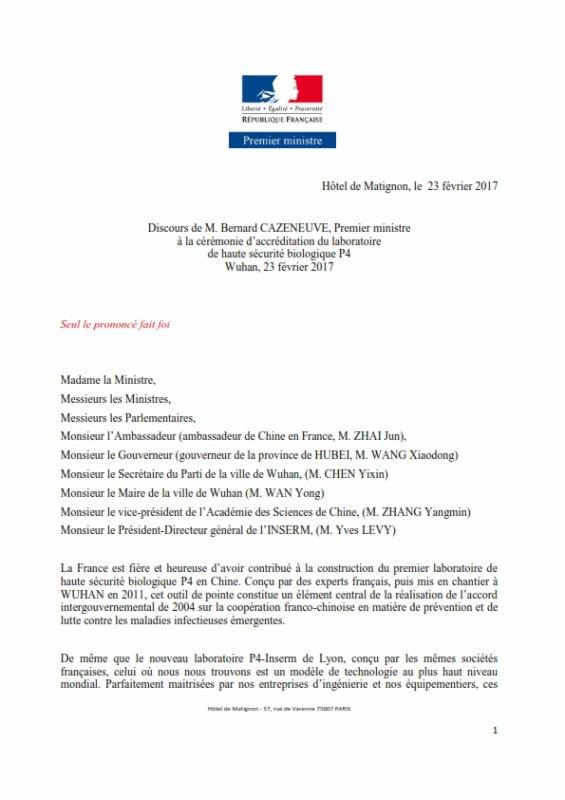 FIN DE VIE SUR TERRE ORGANISEE: CHINE : Laboratoire P4 à Wuhan