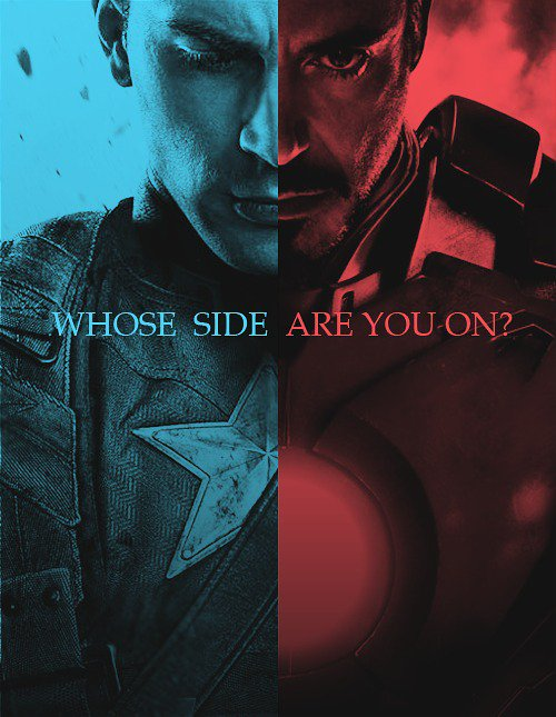Shield / Rebelle - Iron man / Captain América