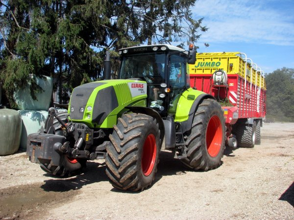 Claas-axion 840 & Jumbo