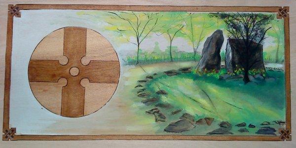 Tombeau de Merlin et croix druidique .