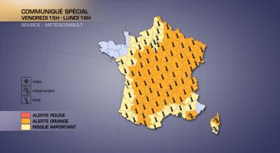 Flash spécial - Vague de froid intense sur la France / Neige en Provence et Corse