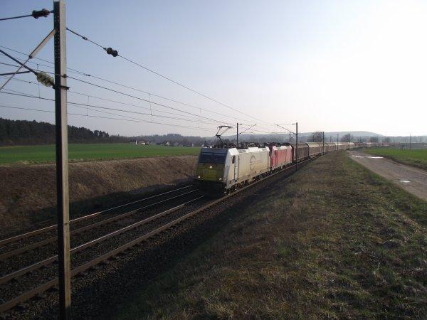 Baureihe 186 ECR et DB à coté d'Is sur Tille (21)