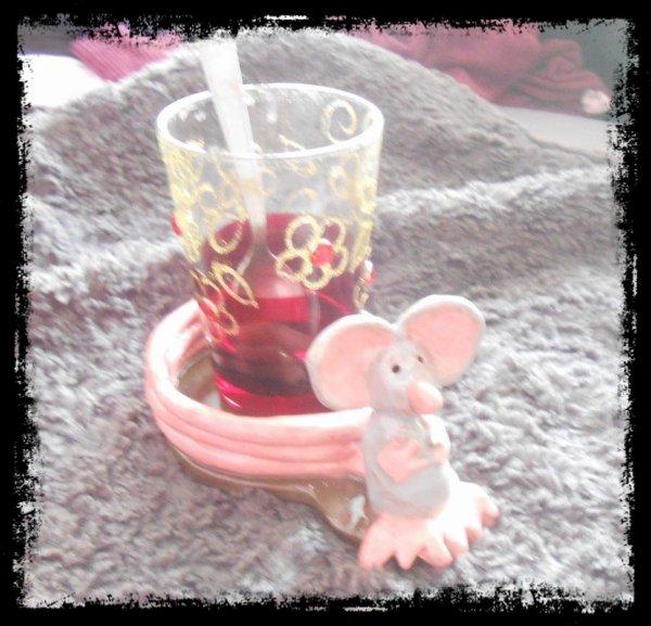 Dessous tasses/verres Rat en Argile (Achevé)