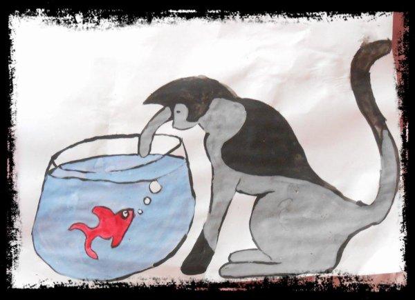 Le Chat et l'Aquarium (peinture)