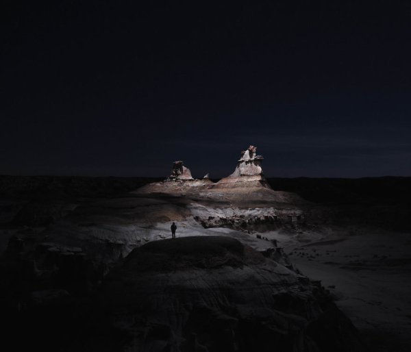 """I Lit Landscapes At Night Using Drones With LEDs"" by  Reuben Wu"