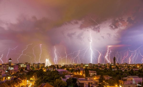 """Dezmățul fulgerelor. București, 22 august 2016.""""-It could be translated like ""The Orgy of Lightnings"";)"