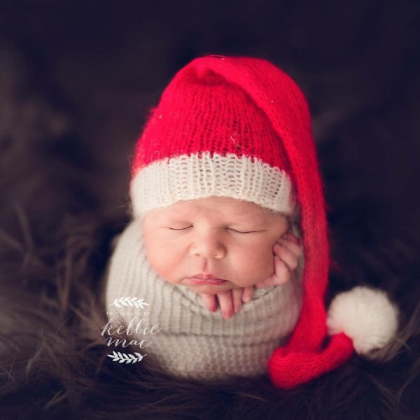 """Tiny tots who are ready for their first Christmas"""
