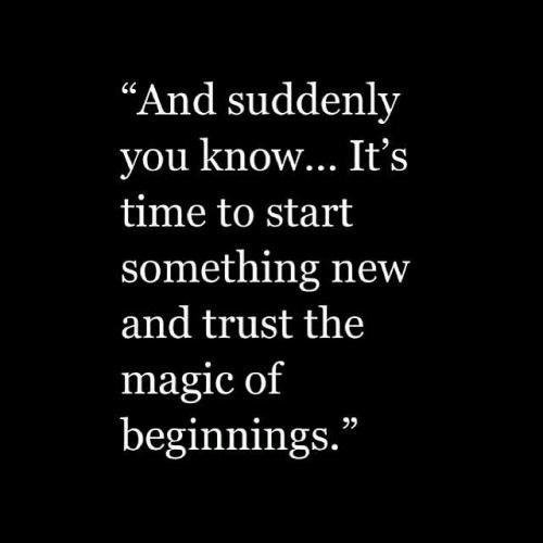 For a New Fresh Start! :)