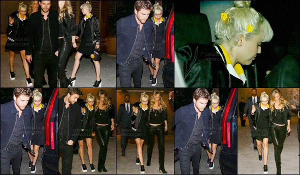 - 10/04/16 - Miley & Liam ont été photographiés à l'avant-première du film The Huntsman Winter's War ▬ L.A. C'est une tenue très féminine (enfin) que Miley nous a donnée ce jour-là, ça fait du bien de la revoir avec une robe et une paire de talons.  -