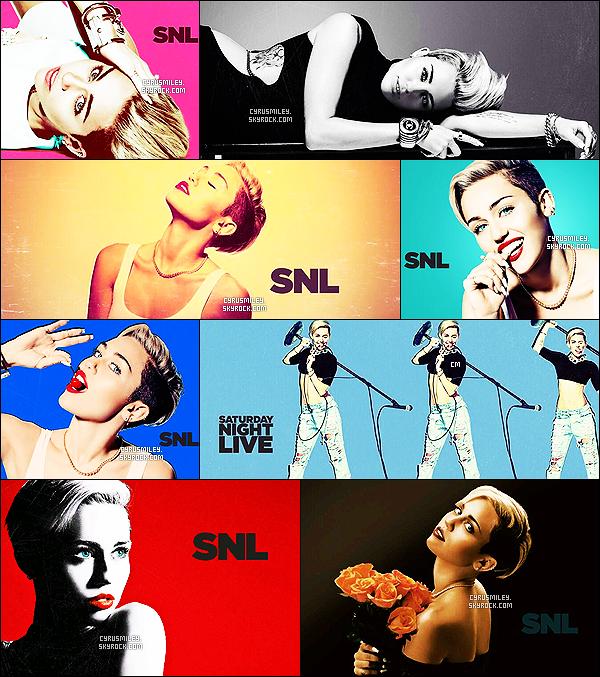 - Découvrez le photoshoot promotionel du Saturday Night Live-Comment trouvez-vous M. dans ce shoot ? Nous pouvons découvrir un magnifique shooting, très coloré, et punchy à l'image de Miley Cyrus , qui elle opte pour des poses simples et efficaces ! -