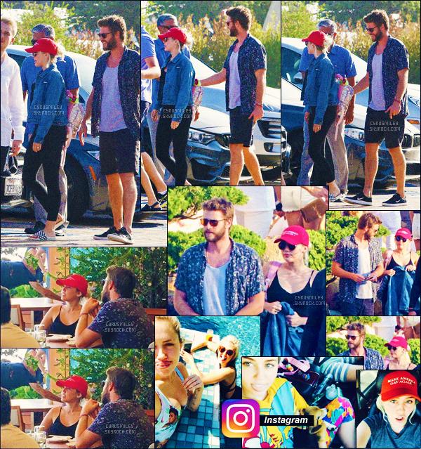 CANDIDS ●●●  24/07/16 - Miley & Liam se rendant au restaurant Nobu à Malibu.