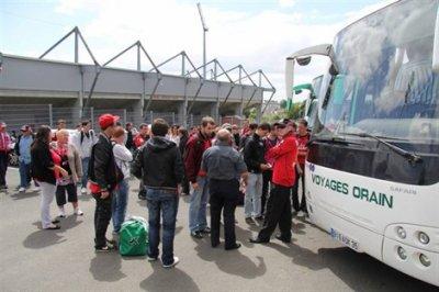Les supporters d'En Avant en route pour Rouen