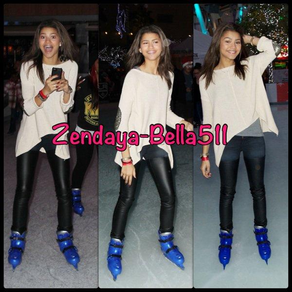 Zendaya & Deja & Gabbie : ice skating !!!!