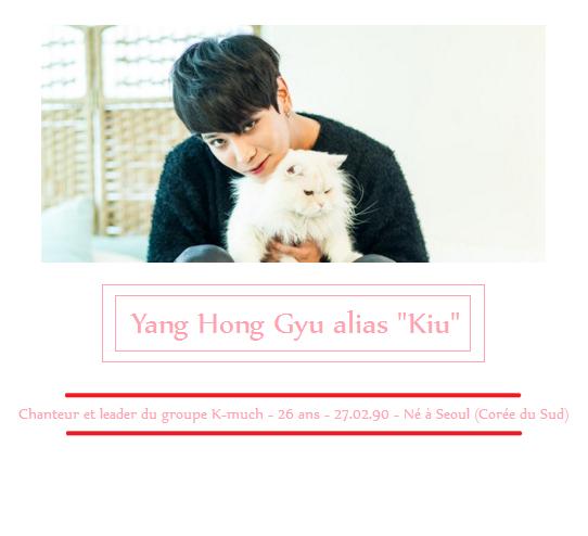 """Yang Hong Gyu """"Kiu"""" - chanteur K-much"""