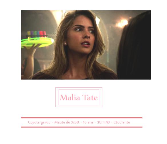 Malia Tate - Teen Wolf