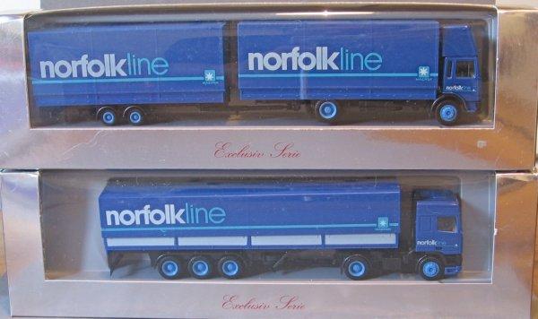 Les Glomb de la collection , ensuite les Nordfolkline, et les nv volvo rentré pour Routes&Ferries (société fictive de transport au 1/87em)