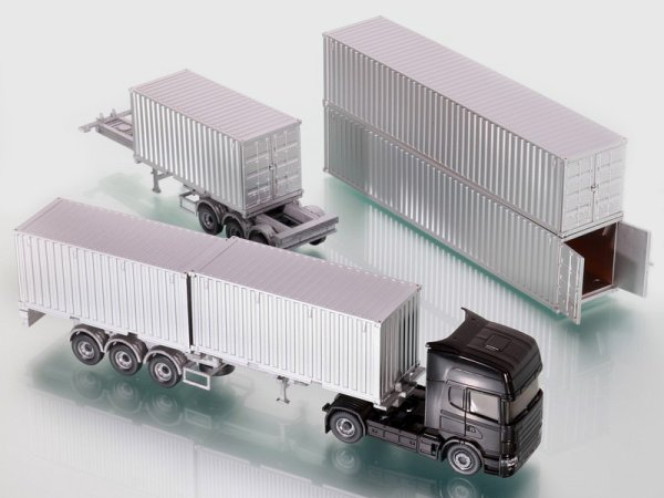 Un surplus de nvts au 1/87em photo 1 ELIGOR(1/87e) / 2a9 AWM / 10 Schuco /11.12 ARTITEC /  13 WIKING NV containers avec portes ouvertes