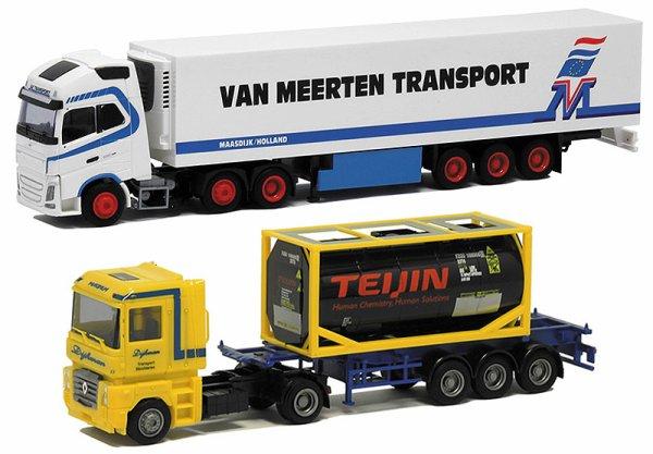 LES NOUVEAUTES EN MAGASINS ...... Tous 1/87em ph 1 & 2 exclusivité Herpa les suivants camions AWM, les 3 grues WSI / Promotoys