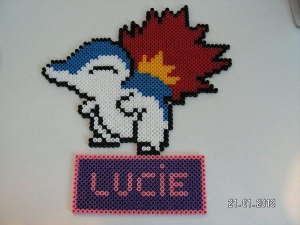 Créa de Lucas et Lucie avec des perles a repasser