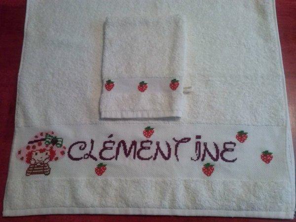 Serviette +gant pour Clémentine