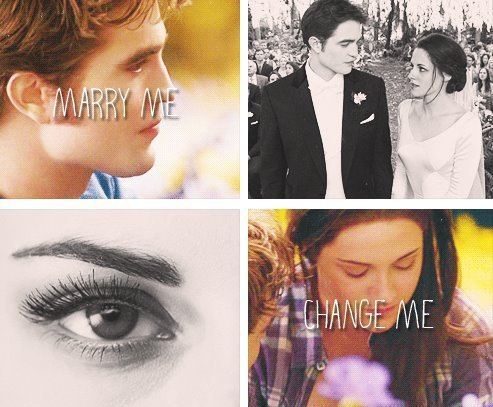Twilight ; New Moon ; Eclipse ; Breaking Dawn .