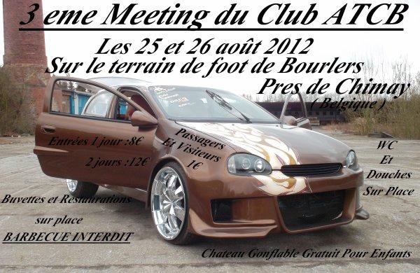 Notre meeting des 25 et 26 aout 2012