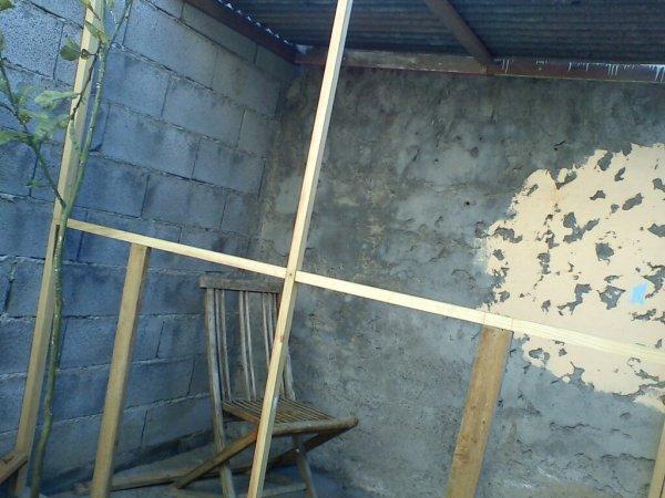 Ma volière en construction