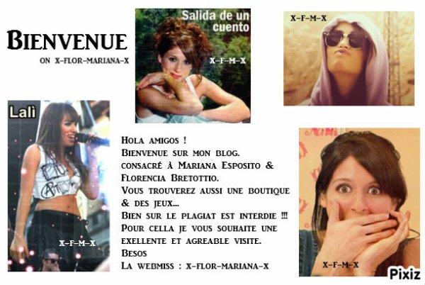 ✿ Bienvenue sur ta source de Florencia Bertotti et Mariana Esposito ✿