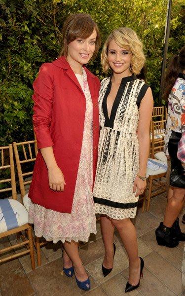 Dianna Agron aux dîners/défilés de Vogue (1)