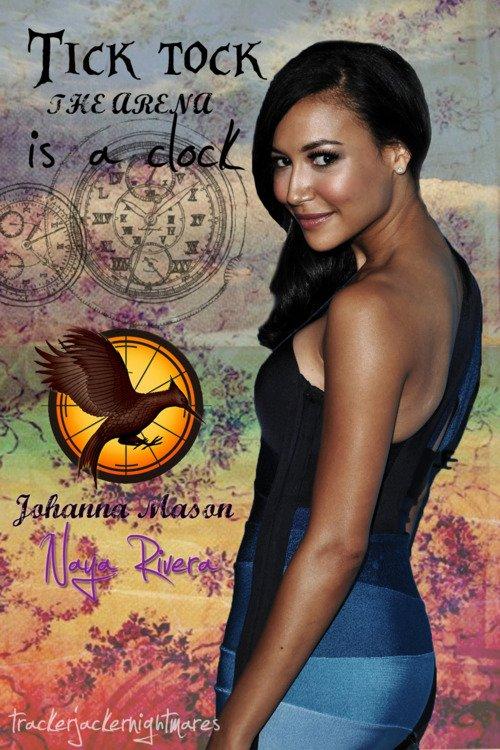 Naya Rivera as Johanna Mason dans Hunger Games ?