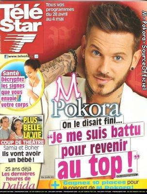 Couverture Télé Star,Hors série de Star Gloss et Interview de Top 42