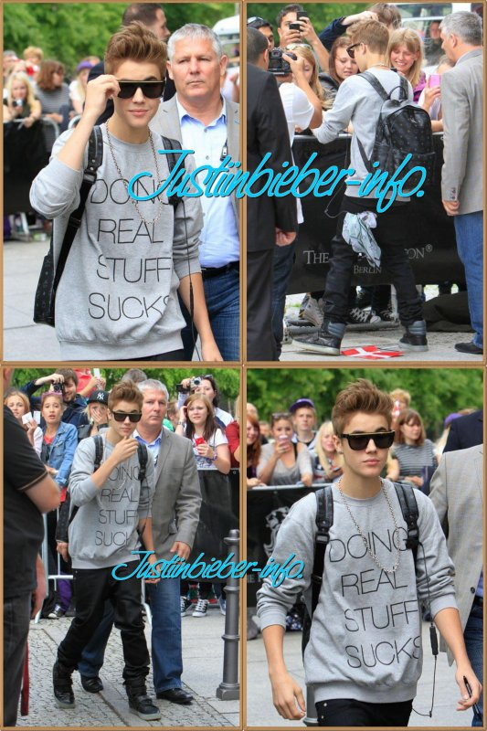 Justin à Berlin Aujourd'hui.
