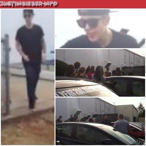 Justin et ses fans à Atlanta.