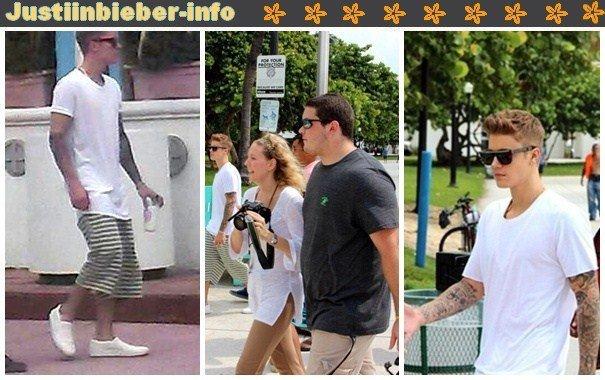 Justin à Miami Beach.