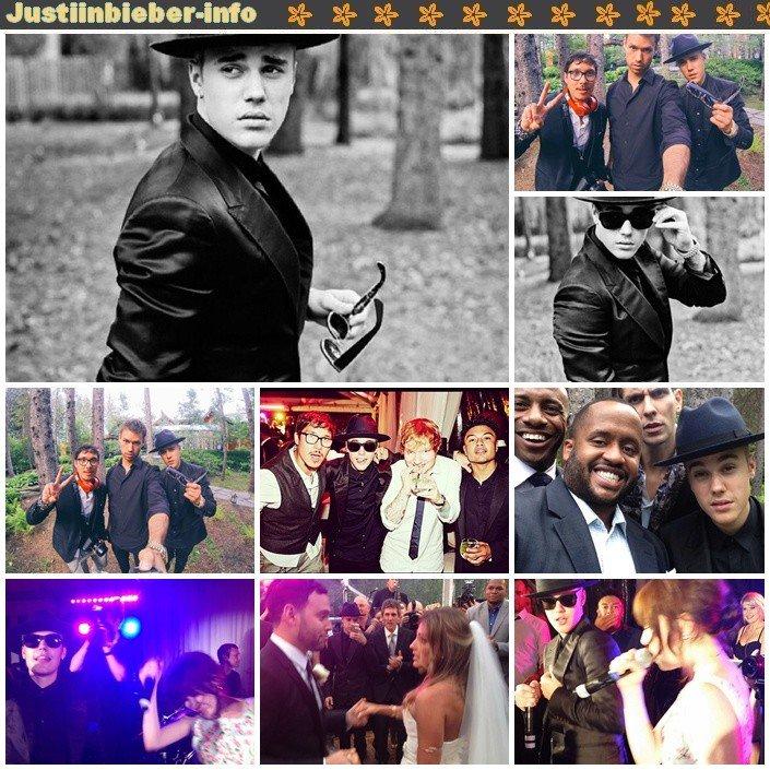 Justin au Mariage de Scooter et Yael.