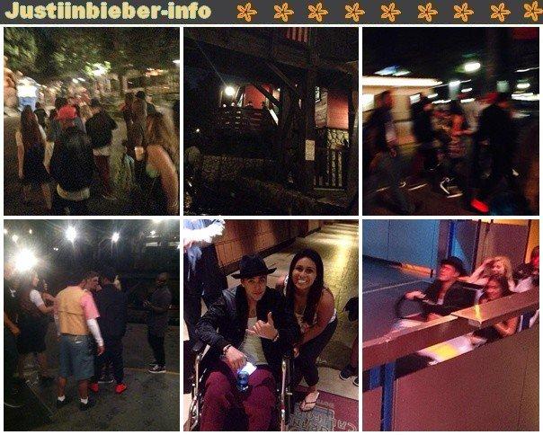 Justin à Disneyland.