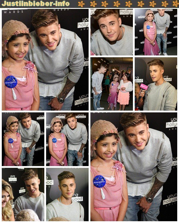 Justin aux Young Hollywood Awards.