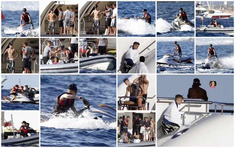 Justin à Ibiza pour l'anniversaire de Riccardo Tisci.