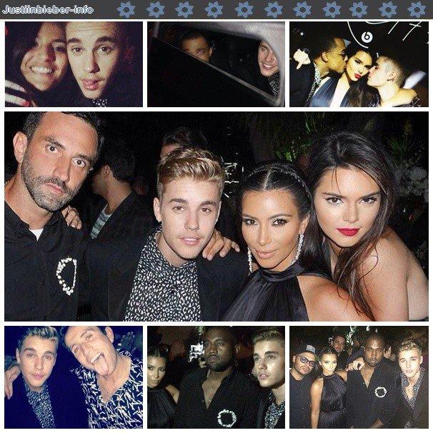 Justin à l'anniversaire de Riccardo Tisci.