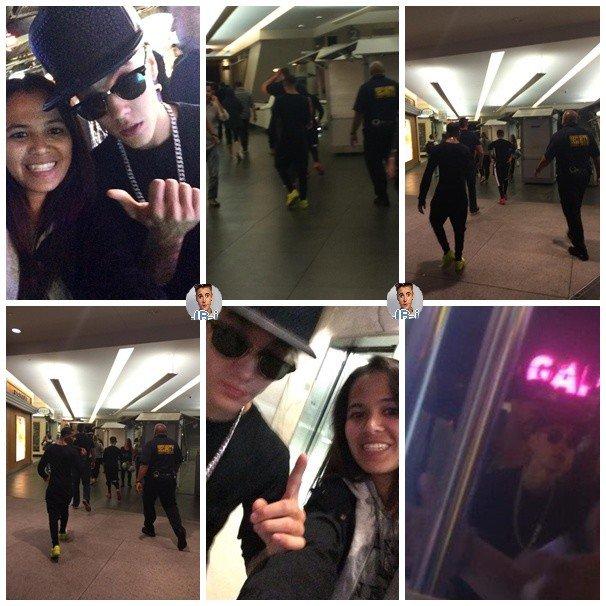 Justin de retour à Los Angeles.