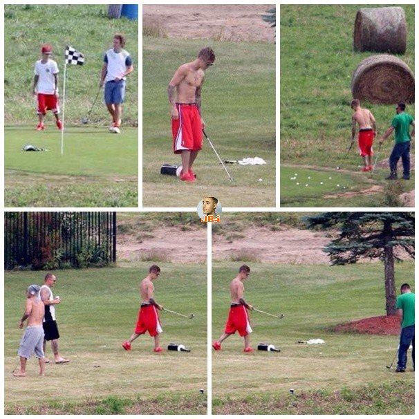 Justin chez son père au Canada.