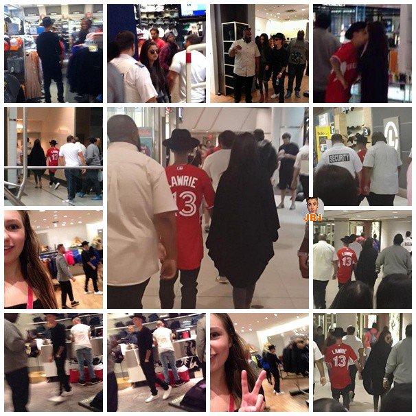 Justin et Selena dans un centre commercial- Justin rentrant à l'hôtel.