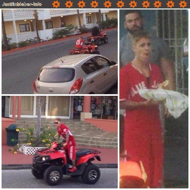 Justin faisant du quad aux Caraïbes.