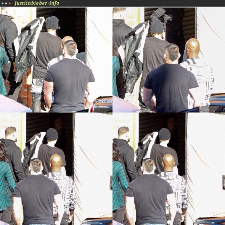 Justin chez le coiffeur/ au match des Clippers.