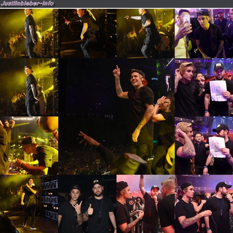 Justin au ULTRA Music Festival