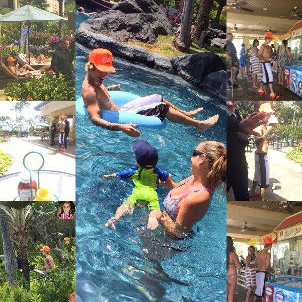 Justin à Hawaii.