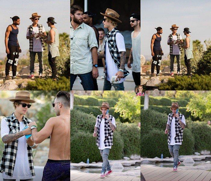 Justin au festival Festival Coachella /à la FM House Party